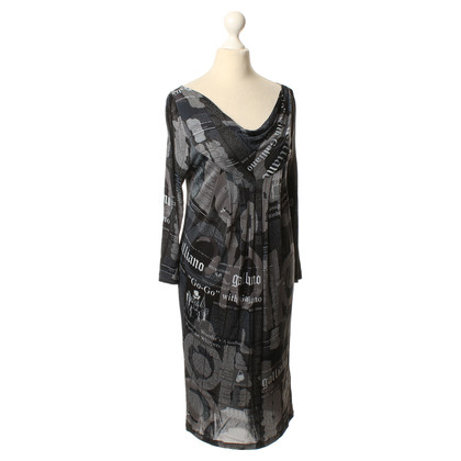 John Galliano Kleid mit Print