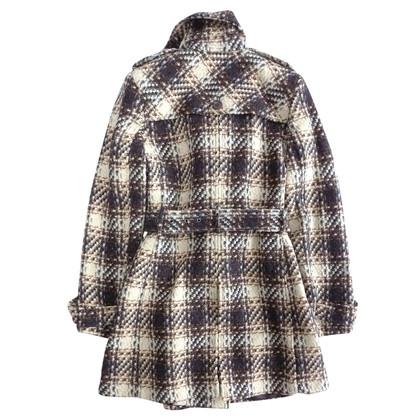 DKNY Cappotto di lana a quadri