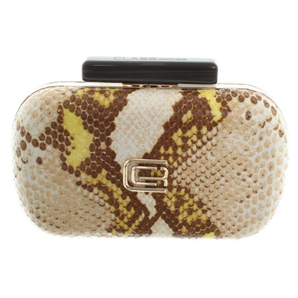 Roberto Cavalli clutch with reptile embossing