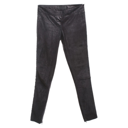 Neil Barrett Wildlederhose in Schwarz