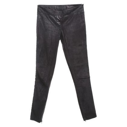 Neil Barrett Suede pants in black