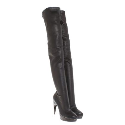 Lanvin Knie laarzen in zwart