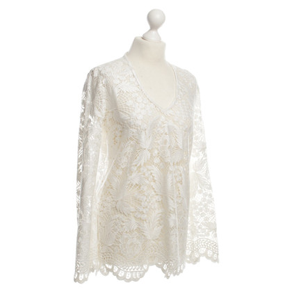 Valerie Khalfon  top crochet lace