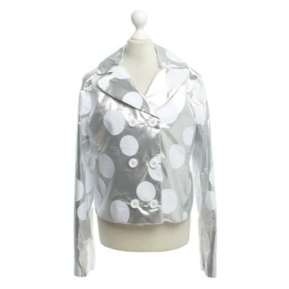 Dolce & Gabbana Silberfarbener Blazer mit Punkten