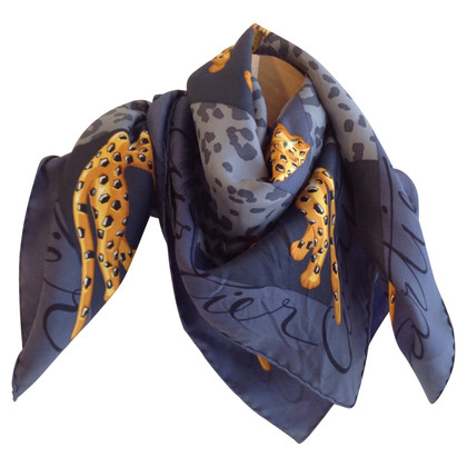Cartier Silk scarf with leopard motif