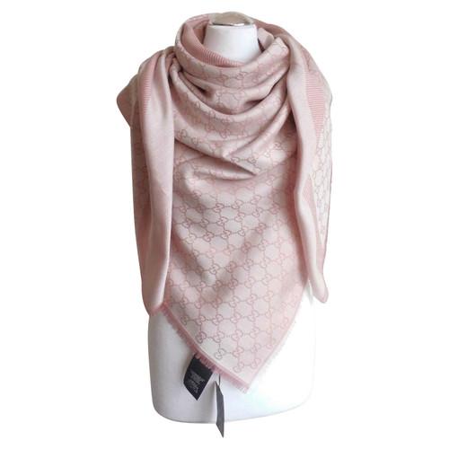 choisir officiel Royaume-Uni disponibilité grandes marques Gucci Echarpe/Foulard en Laine en Rose/pink - Acheter Gucci ...