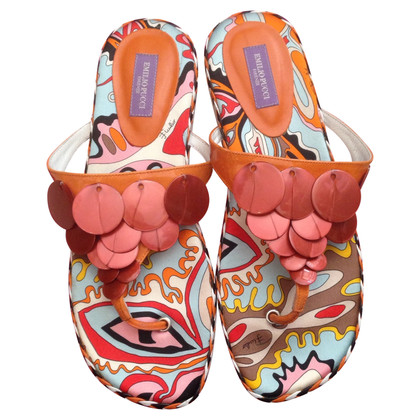 Emilio Pucci Toe sandals in multicolor
