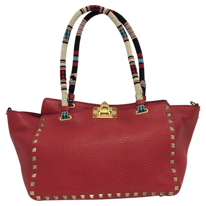"Valentino ""Rolling Leather Tote Bag"""