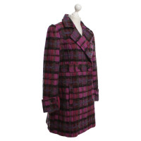 Kenzo Coat with plaid pattern