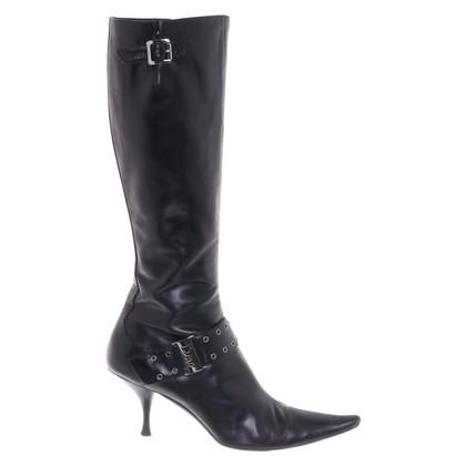 Christian Dior Bottes en noir