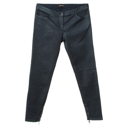 Roberto Cavalli Dark blue jeans with polished finish