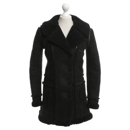 Balenciaga Fur coat in black