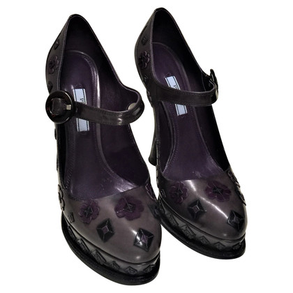 Prada Mary Janes with leather applications