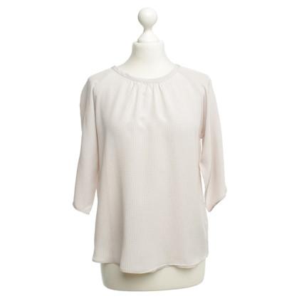 Hemisphere Silk blouse with tie Print