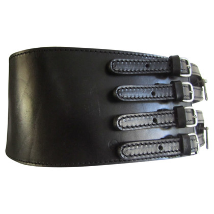 Alexander McQueen Black leather belt