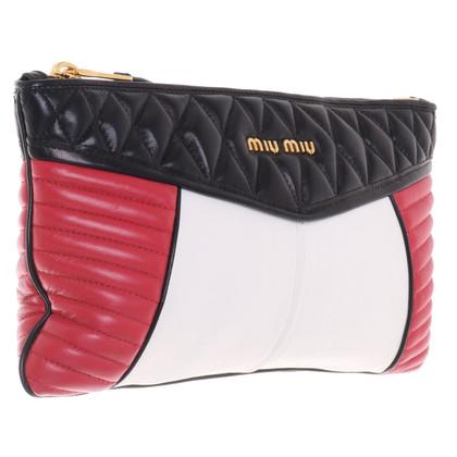 Miu Miu clutch in tricolore