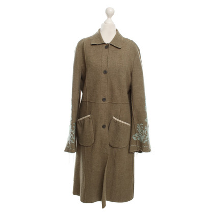 Noa Noa Wool coat in green