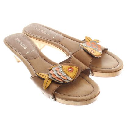 Prada Sandals with wooden soles