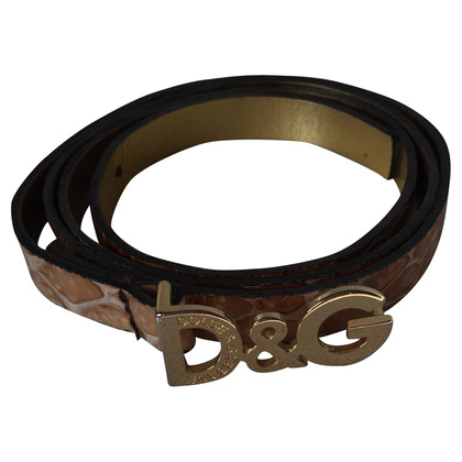 D&G Crocodile leather belt