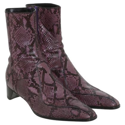 Prada Slangenleer laarzen in purple