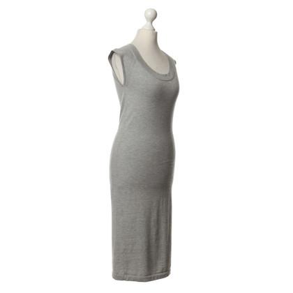 DKNY Senza maniche in maglia abito grigio chiaro