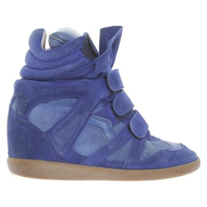 Isabel Marant Sneaker-Wedges in Blau