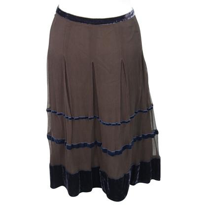 Whistles Silk skirt in brown