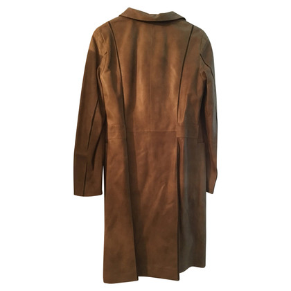 Escada leather coat
