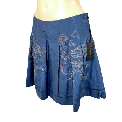 Patrizia Pepe Blue skirt with embroidery