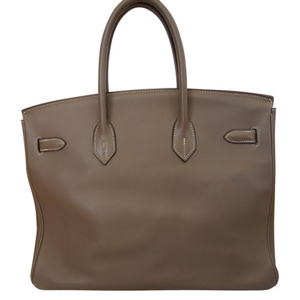 Hermès Birkin 35 Veau swift Argente Palladiee