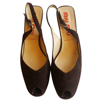 Miu Miu peep toes slingback