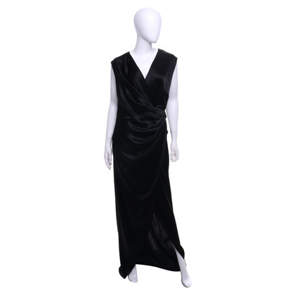 Talbot Runhof Satin dress in black