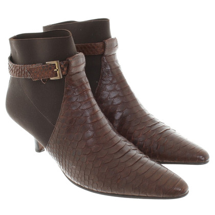 Walter Steiger Ankle boots made of snakeskin