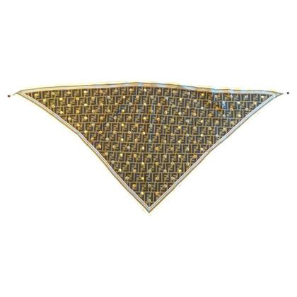 Fendi sciarpe di seta del triangolo
