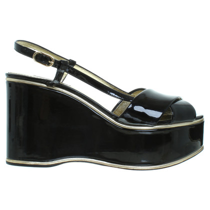 Dolce & Gabbana Summer wedges in black