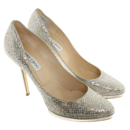 Jimmy Choo pumps in argento