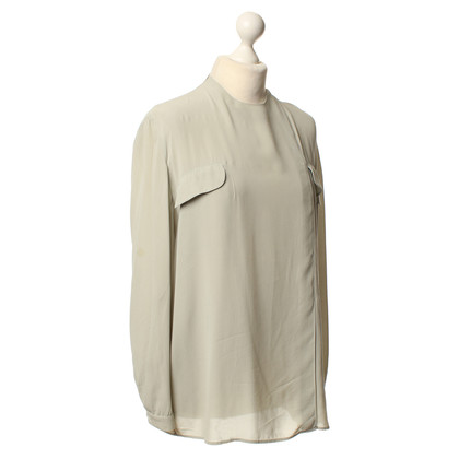 Armani Zijden blouse in mint Green
