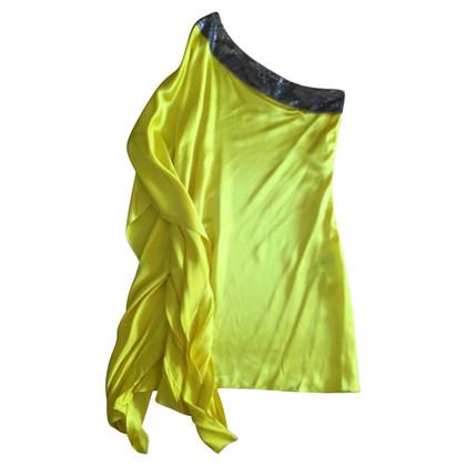 Roberto Cavalli One-shoulder dress in yellow