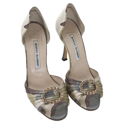 Manolo Blahnik pumps with camouflage pattern