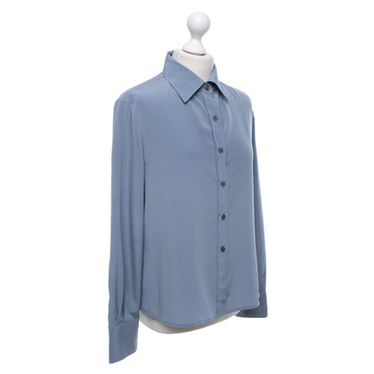Burberry Hemdbluse in blu fumo