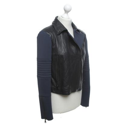 J Brand Lederen jas in tweekleurig