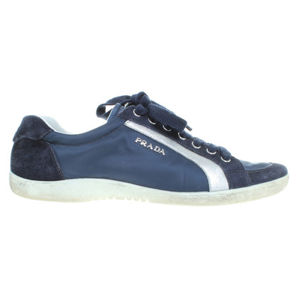 Prada Blue lace-up shoes