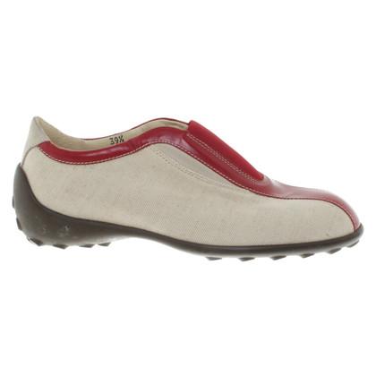 Tod's Slip in beige / red
