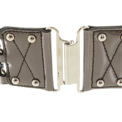 Miu Miu Metallic waist belt