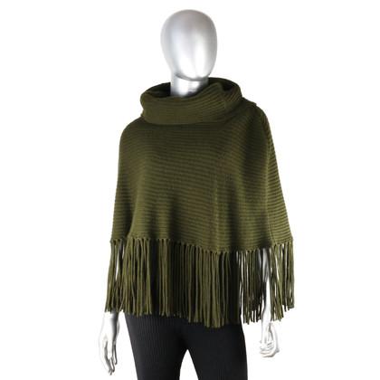 Ralph Lauren Poncho di lana/cashmere con collo flessibile