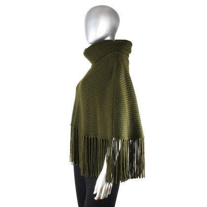 Ralph Lauren Wool/cashmere poncho with hose collar