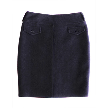 Max Mara Wool and angora blend skirt in blue