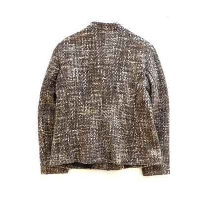 Max Mara Tweed blazr in melange brown