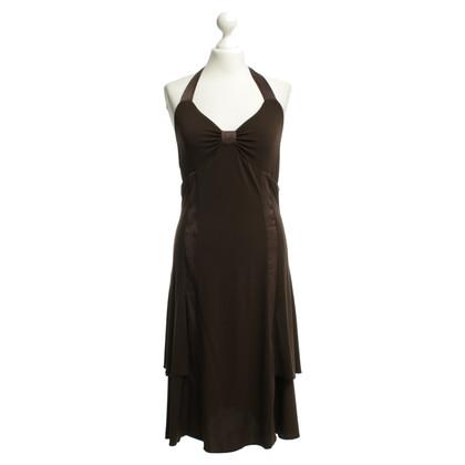 Max Mara Neckholder jurk in bruin