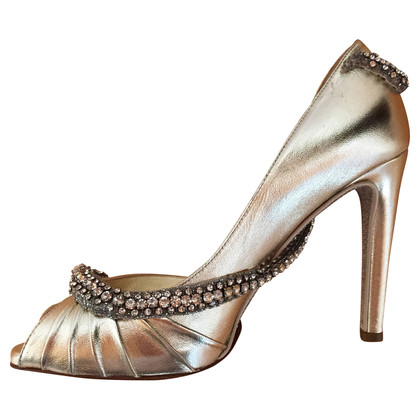 Valentino Peep-toes with Schlangenapplikation